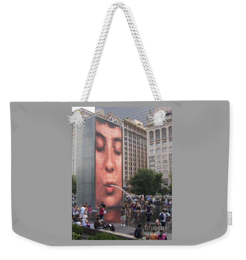 Cool Crowd By Ann Horn Weekender Tote Bag featuring the photograph Cool Crowd by Ann Horn