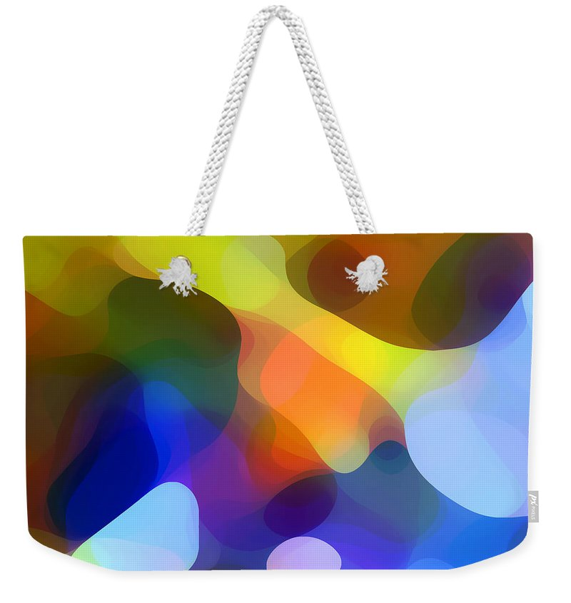 Bold Weekender Tote Bag featuring the painting Cool Dappled Light by Amy Vangsgard