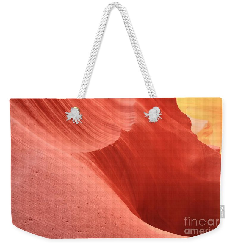 Arizona Slot Canyon Weekender Tote Bag featuring the photograph Cool Desert Colors by Adam Jewell
