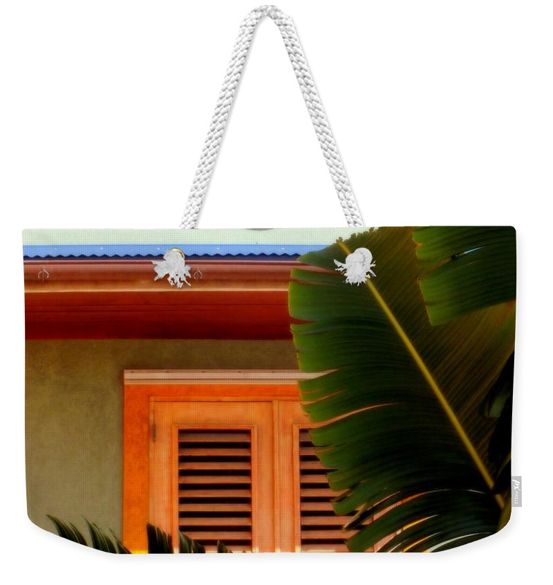 Tropical Weekender Tote Bag featuring the photograph Cool Tropics by Karen Wiles