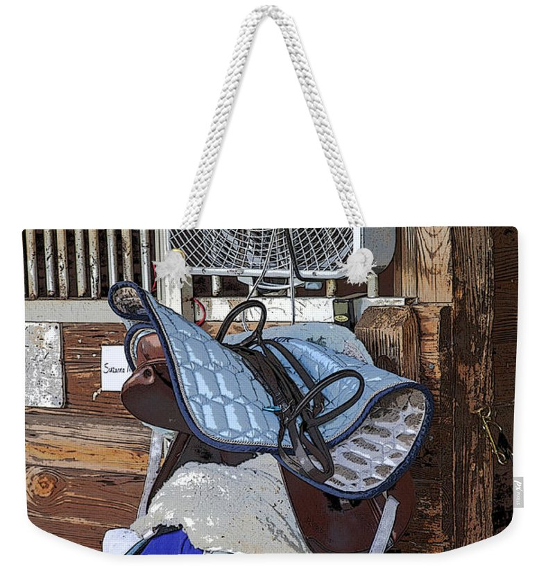 Rocking Horse Stables Weekender Tote Bag featuring the photograph Cooling Off by Rich Franco