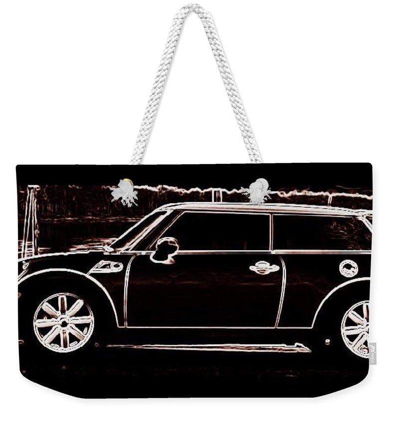 Car Weekender Tote Bag featuring the photograph Cooper Sport by Kathy Sampson