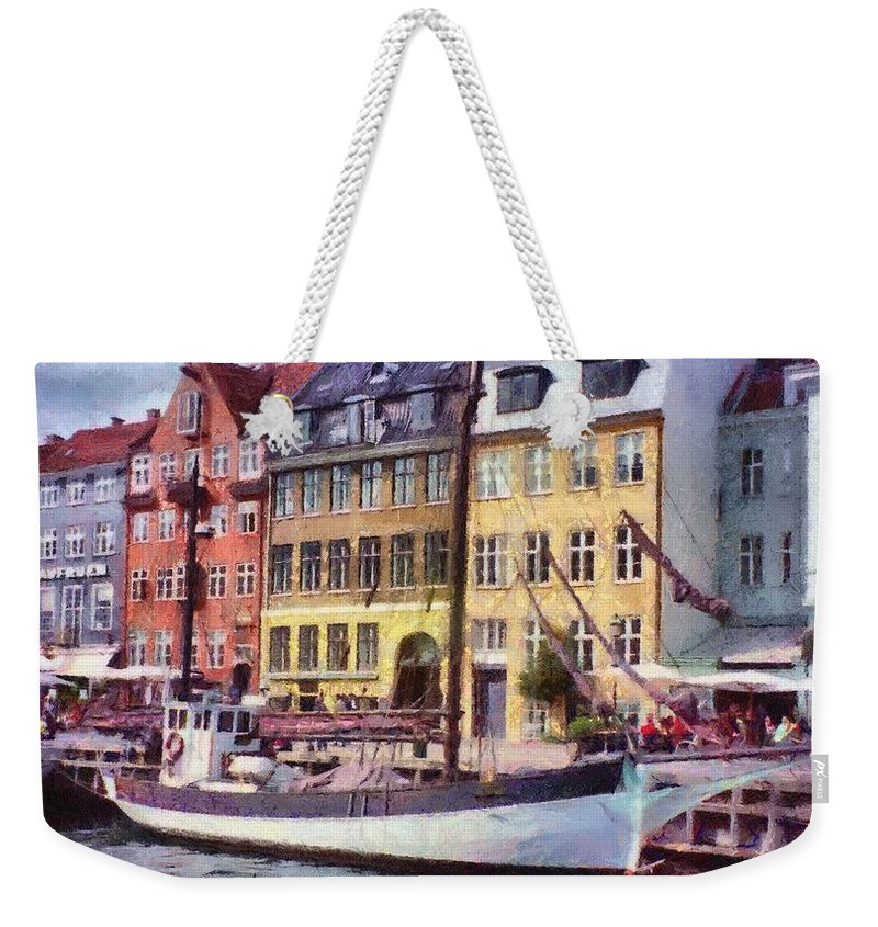 Scandinavia Weekender Tote Bag featuring the painting Copenhagen by Jeffrey Kolker