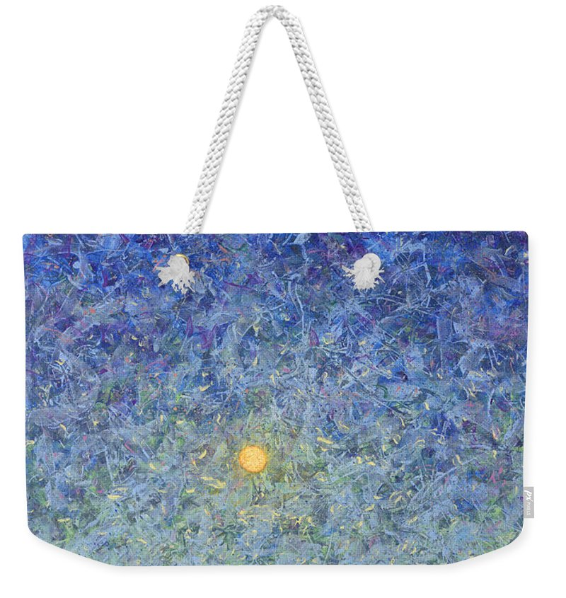 Full Moon Weekender Tote Bags