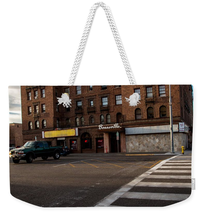 Bar Weekender Tote Bag featuring the photograph Corner Bar by John Daly