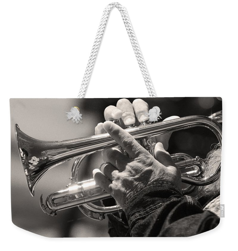 Cornet Weekender Tote Bag featuring the photograph Cornet In Sepia by James BO Insogna