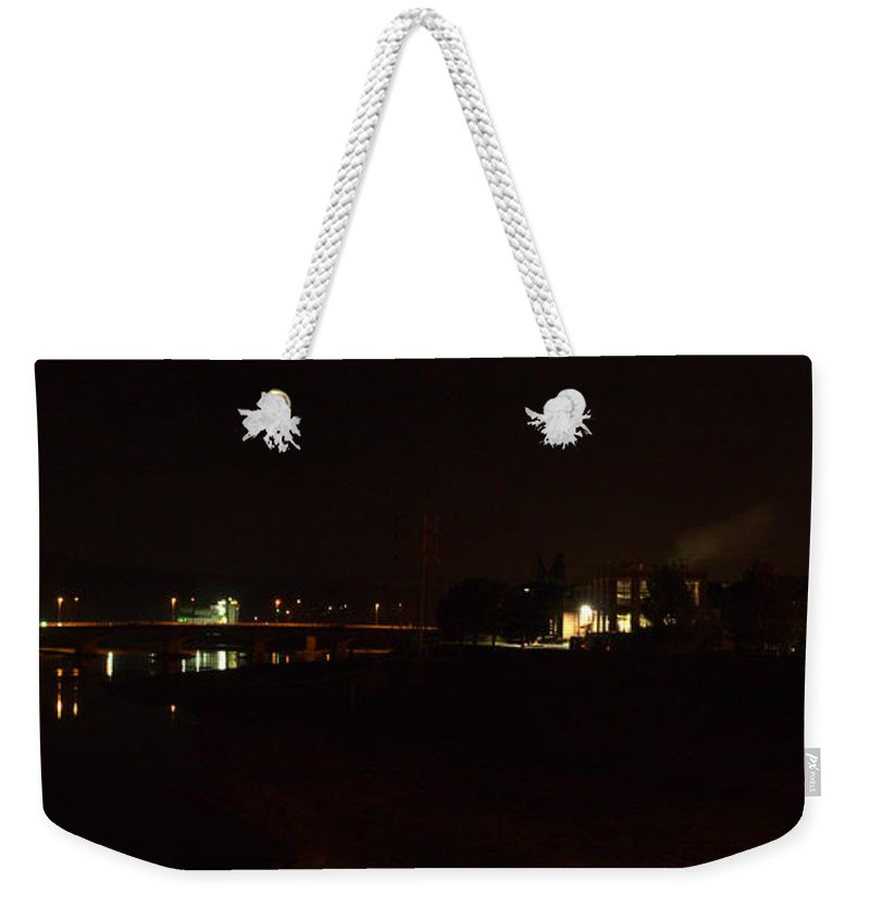 Joshua House Photography Weekender Tote Bag featuring the photograph Corning At Night by Joshua House