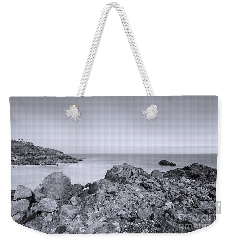 St Ives Weekender Tote Bag featuring the photograph Cornwall Coastline by Doug Wilton