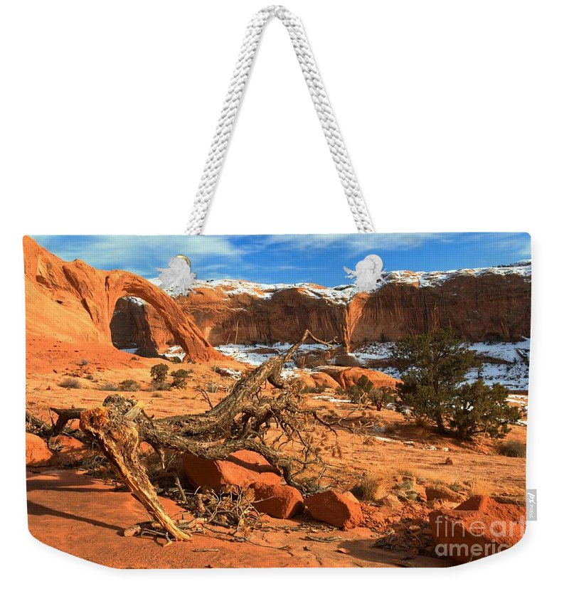 Coronoa Arch Weekender Tote Bag featuring the photograph Corona Canyon by Adam Jewell