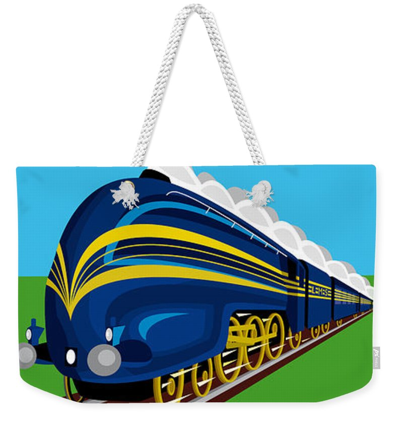 Steam Weekender Tote Bag featuring the painting Coronation Scots by Neil Finnemore
