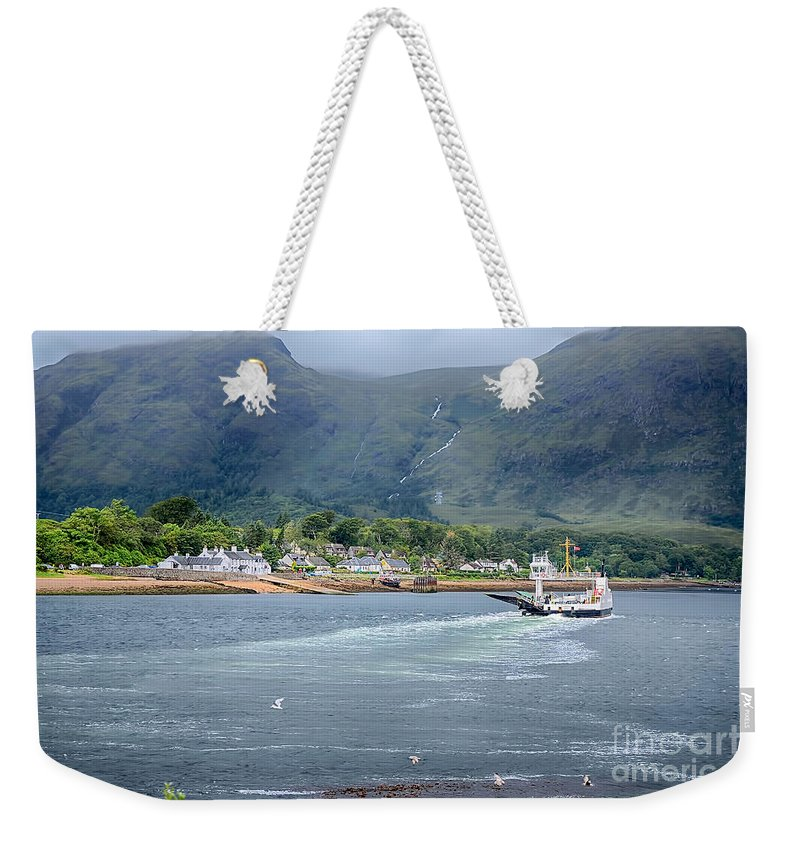 Corran Ferry Canvas Weekender Tote Bag featuring the photograph Corran Ferry by Chris Thaxter