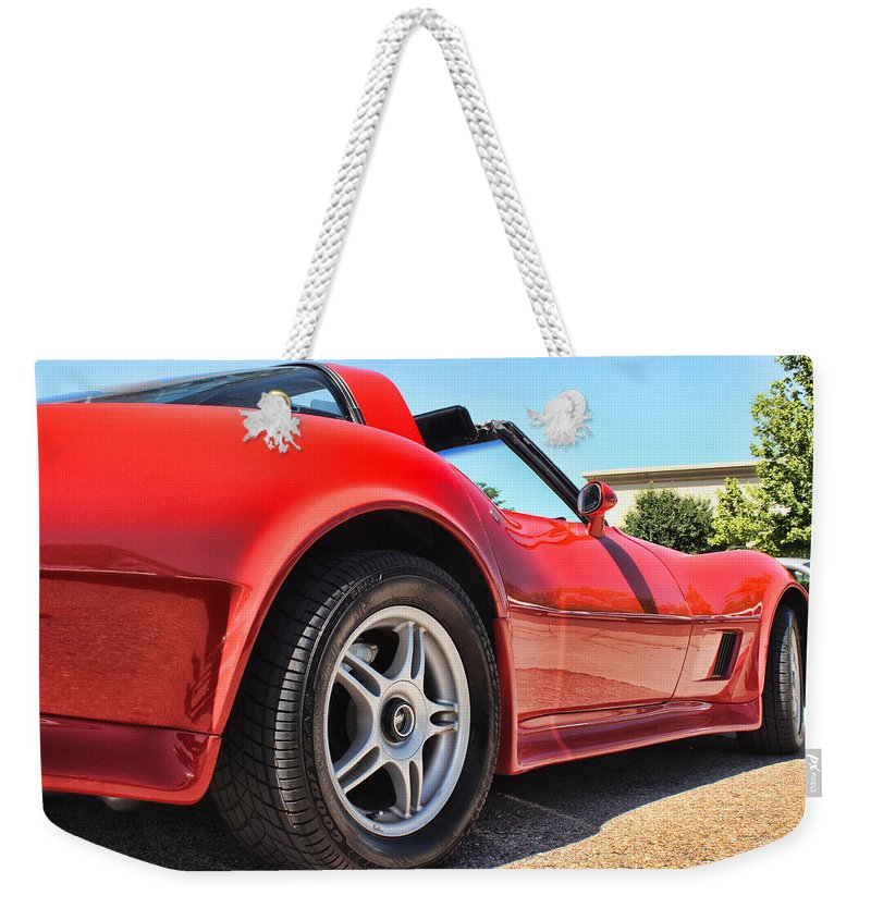 Corvette Weekender Tote Bag featuring the photograph Corvette by Becca Buecher