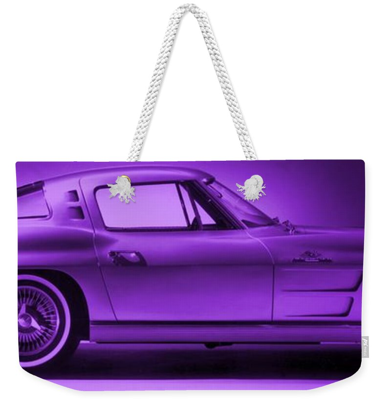 Weekender Tote Bag featuring the photograph Corvette by George Pedro