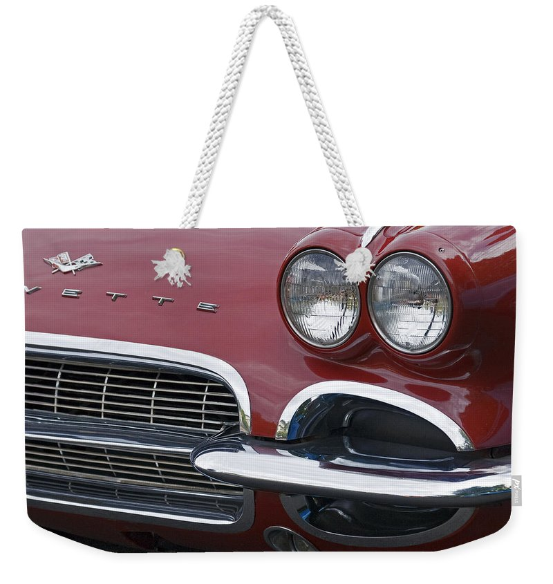 Corvette Weekender Tote Bag featuring the photograph Corvette by Wes and Dotty Weber