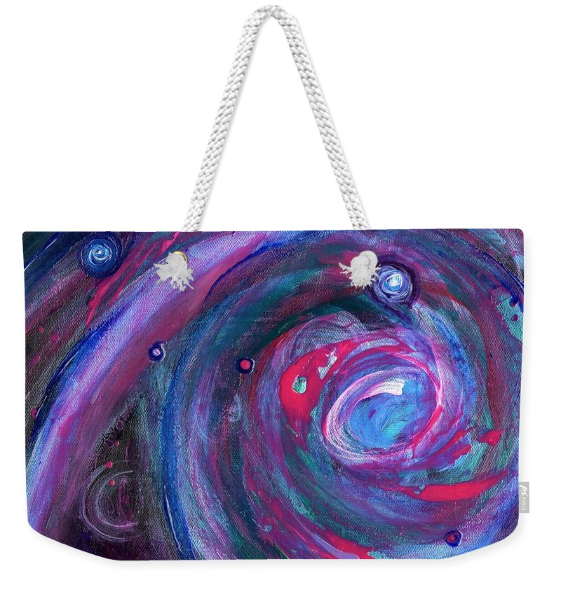 Space Art Weekender Tote Bag featuring the painting Cosmic Activity 15 by Craig Imig