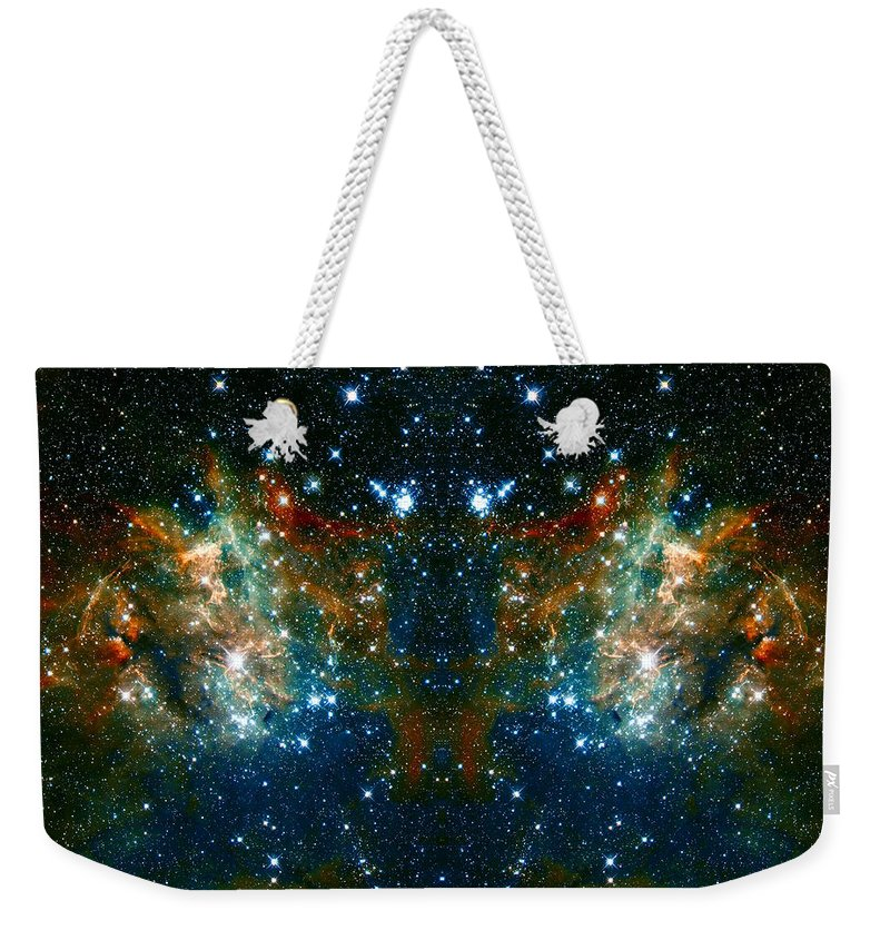 Nebula Weekender Tote Bag featuring the photograph Cosmic Phoenix by Jennifer Rondinelli Reilly - Fine Art Photography