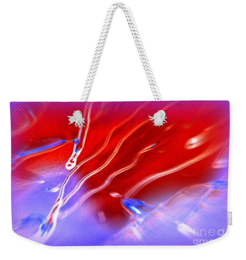 Cosmic Weekender Tote Bag featuring the photograph Cosmic Series 007 by Larry Ward