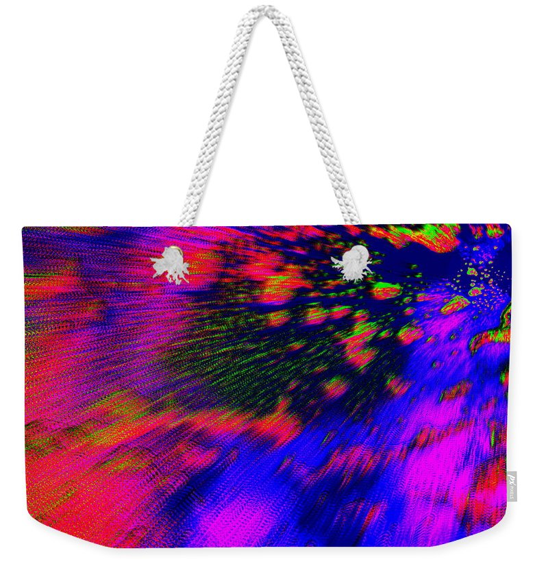 Cosmic Weekender Tote Bag featuring the photograph Cosmic Series 010 by Larry Ward