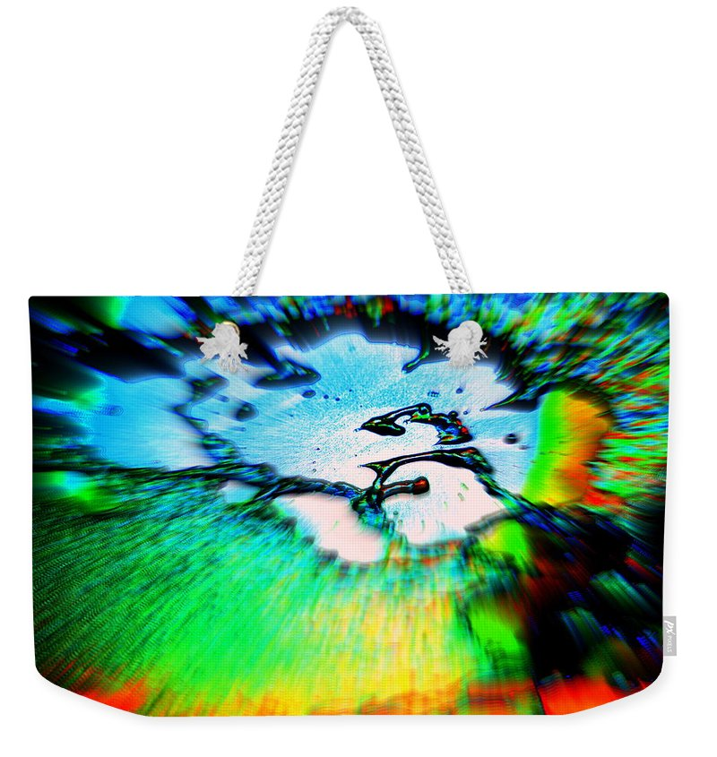 Cosmic Weekender Tote Bag featuring the photograph Cosmic Series 012 by Larry Ward