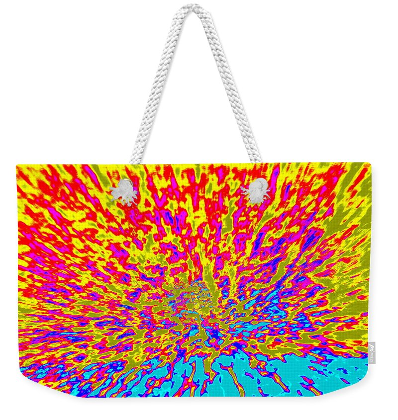 Cosmic Weekender Tote Bag featuring the photograph Cosmic Series 015 by Larry Ward