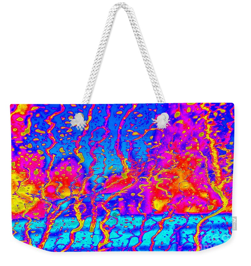 Note Card Weekender Tote Bag featuring the photograph Cosmic Series 017 by Larry Ward