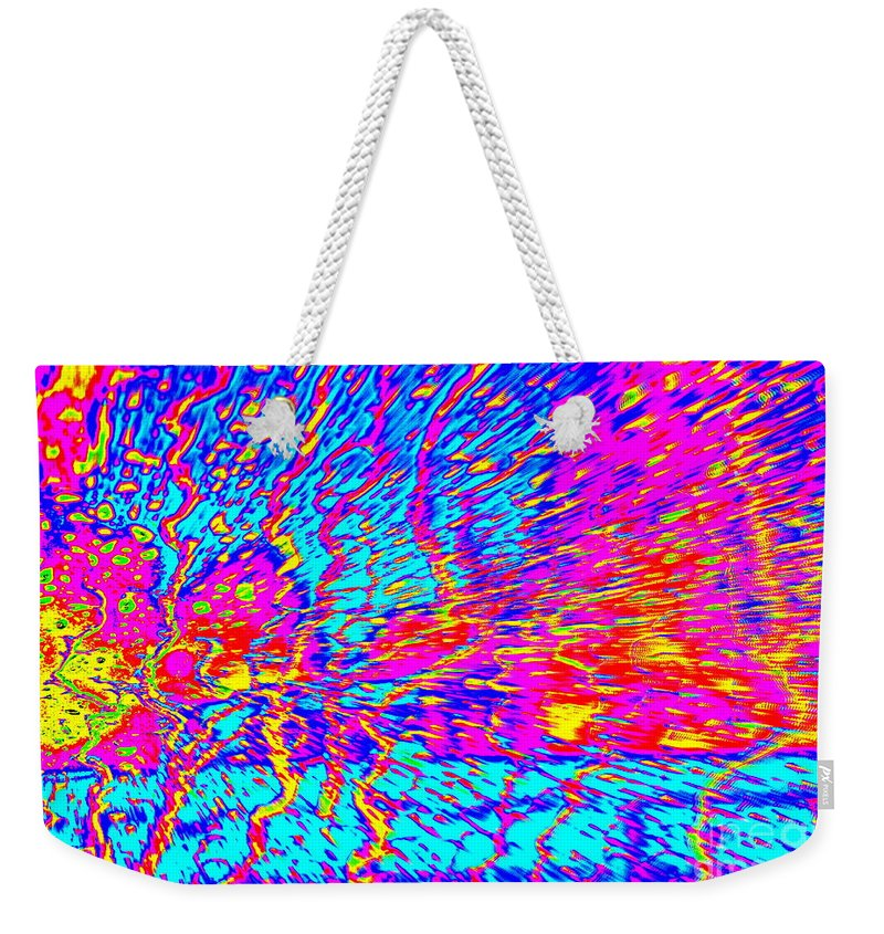 Note Card Weekender Tote Bag featuring the photograph Cosmic Series 021 by Larry Ward
