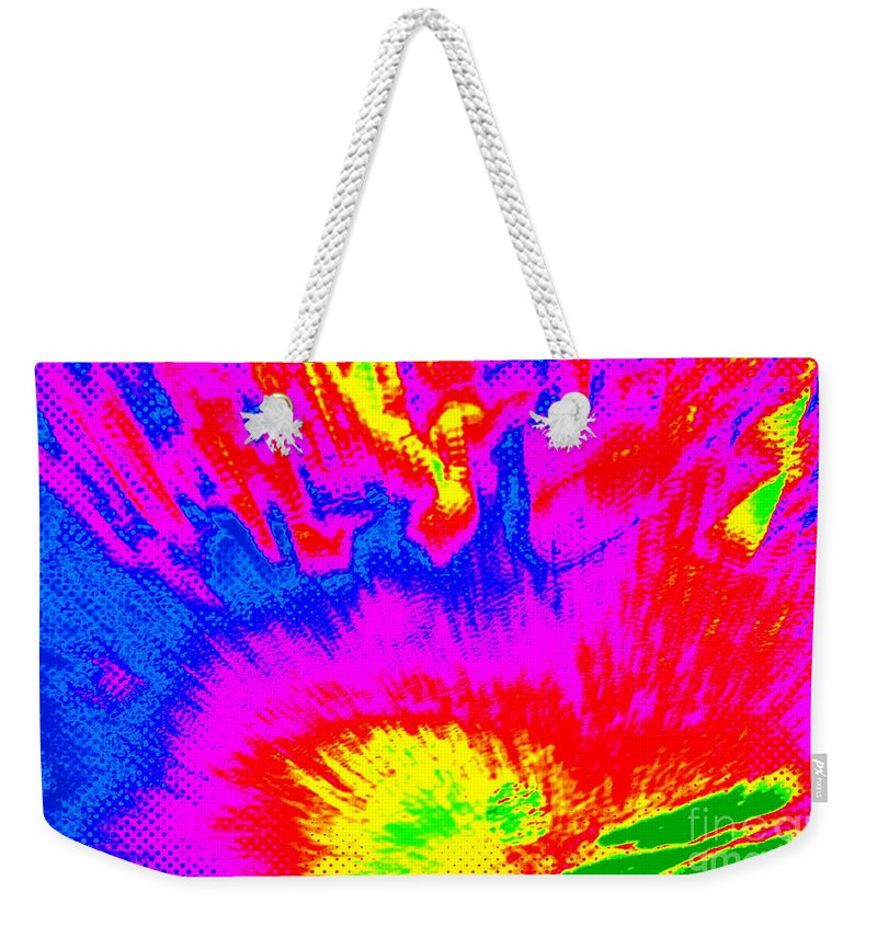 Note Card Weekender Tote Bag featuring the photograph Cosmic Series 023 by Larry Ward