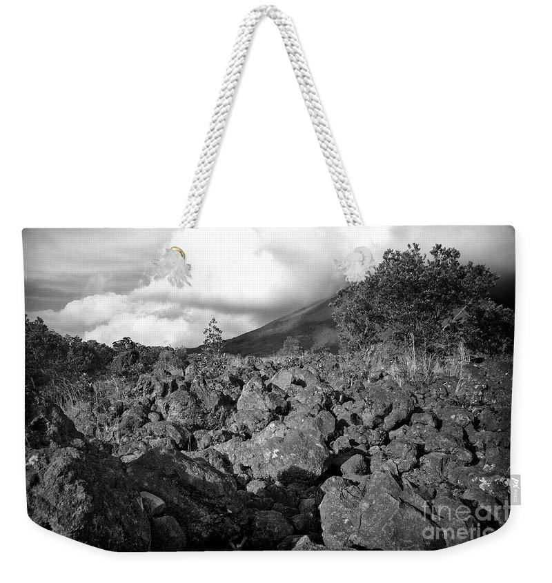 Volcano Weekender Tote Bag featuring the photograph Costa Rican Volcanic Rock by Madeline Ellis