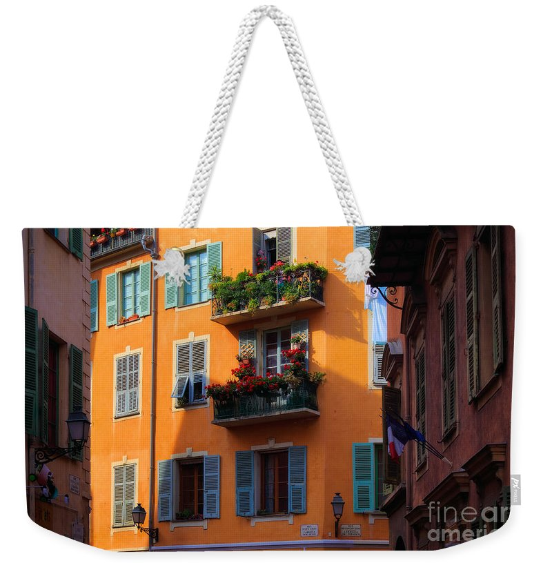 Cote D'azur Weekender Tote Bag featuring the photograph Cote D'azur Alley by Inge Johnsson