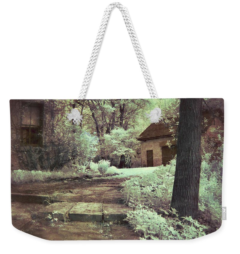 Cabin Weekender Tote Bag featuring the photograph Cottages In The Woods by Jill Battaglia