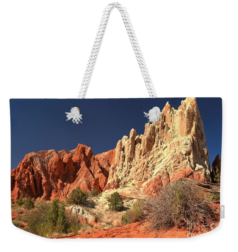 Cottonwood Road Weekender Tote Bag featuring the photograph Cottonwood Pyramids by Adam Jewell