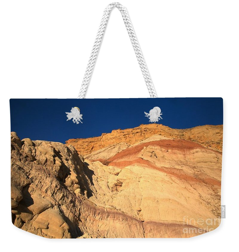 Cottonwood Road Weekender Tote Bag featuring the photograph Cottonwood Stripes by Adam Jewell
