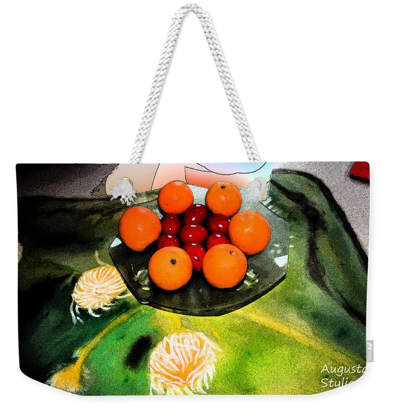 Augusta Stylianou Weekender Tote Bag featuring the digital art Coulouful Easter by Augusta Stylianou