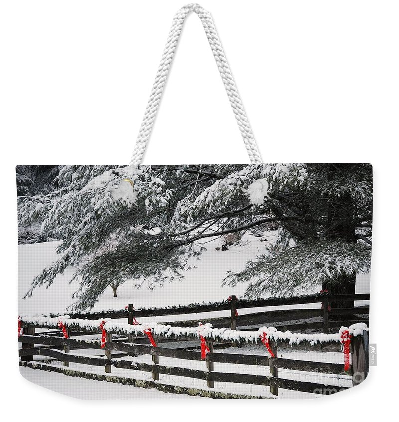 Virginia Weekender Tote Bag featuring the photograph Country Christmas by Eric Liller