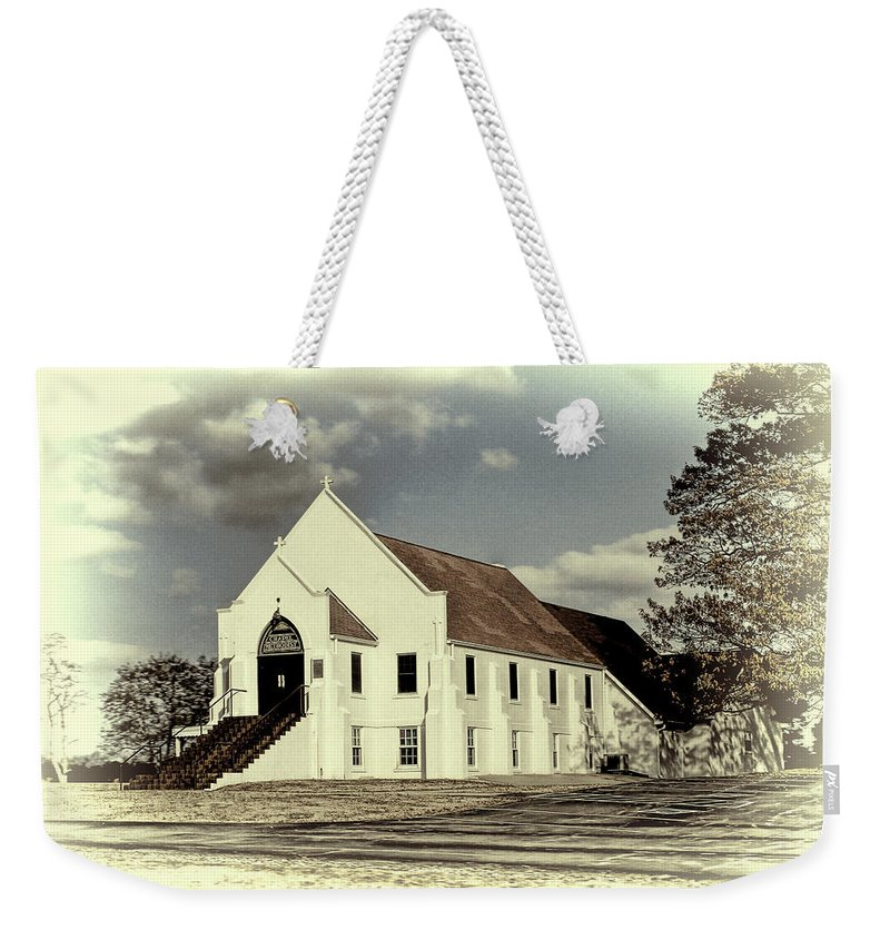 Church Weekender Tote Bag featuring the photograph Country Church by Bonnie Willis