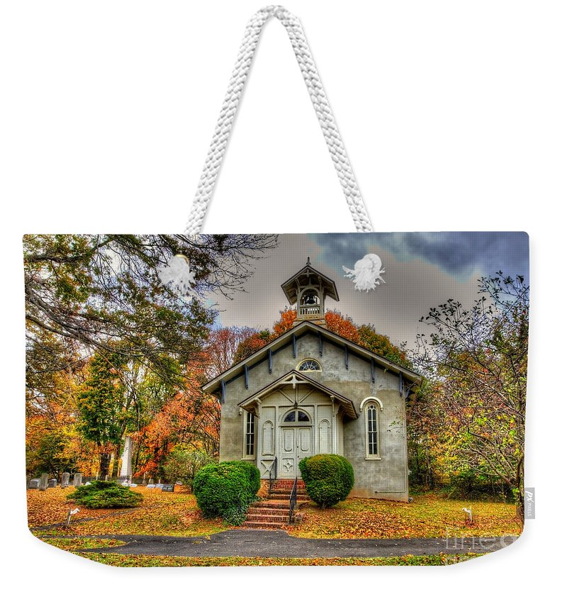 Historic Weekender Tote Bag featuring the photograph Country Church by Traci Law