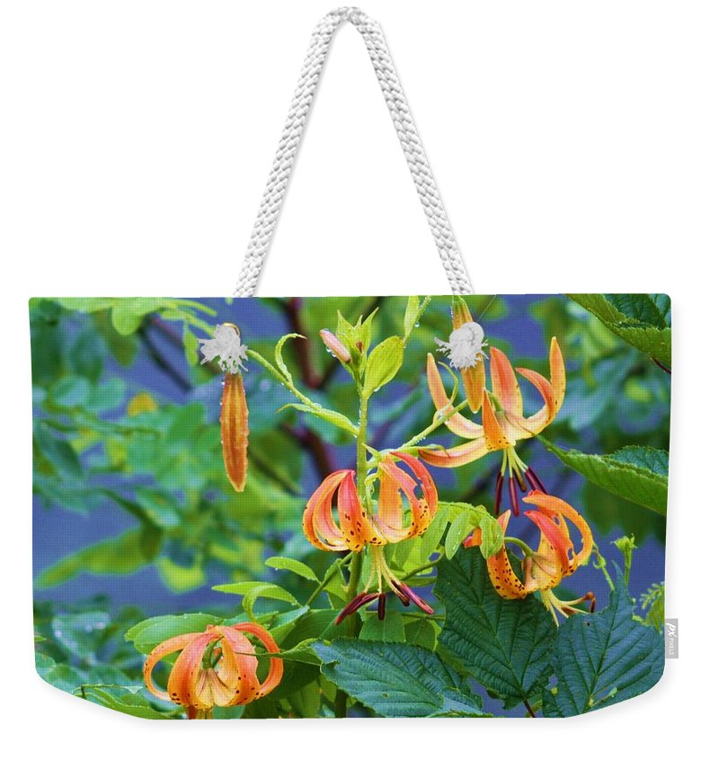 Flowers Weekender Tote Bag featuring the photograph Country Flowers by Chuck Hicks