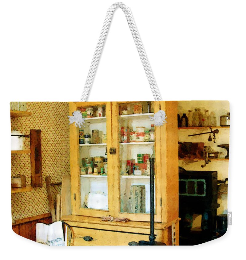 Antiques Weekender Tote Bag featuring the painting Country Kitchen Sunshine IIi by RC DeWinter