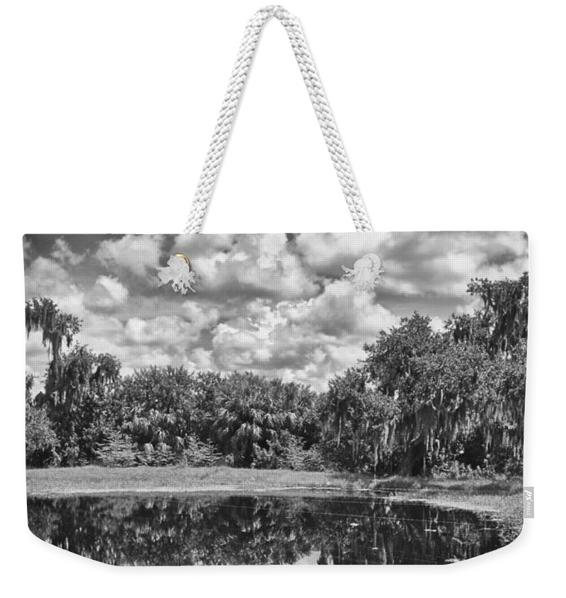 Florida Weekender Tote Bag featuring the photograph Country Lake 2 by Skip Nall
