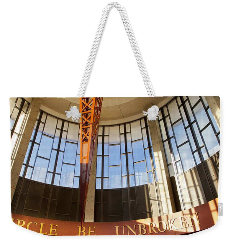 Country Music Weekender Tote Bag featuring the photograph Country Music Hall Of Fame by Brian Jannsen