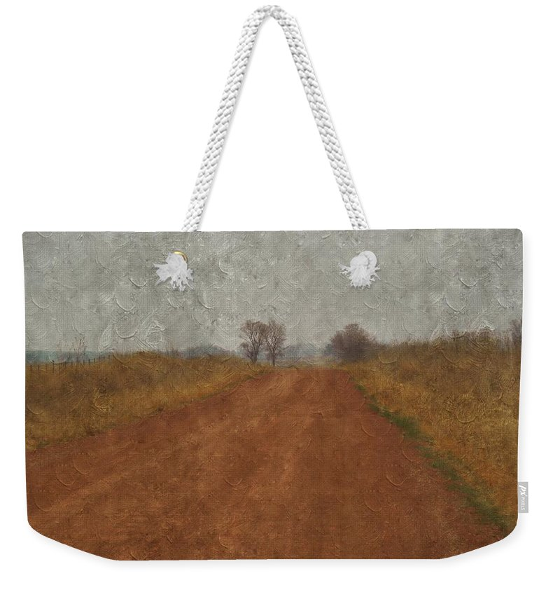 Country Road Weekender Tote Bag featuring the photograph Country Road by Annie Adkins