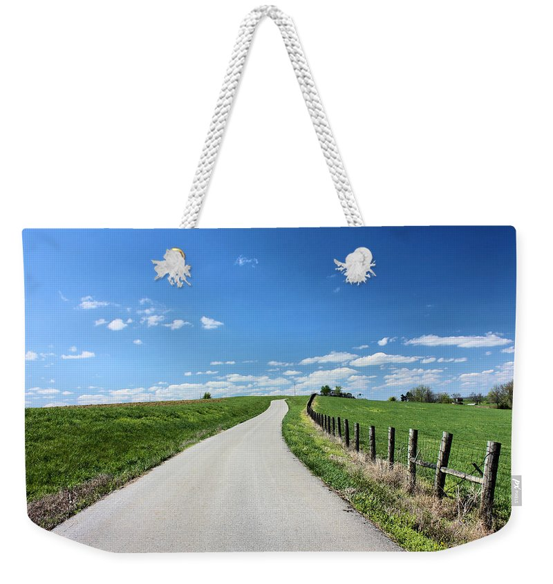 Country Road Weekender Tote Bag featuring the photograph Country Road by Kristin Elmquist