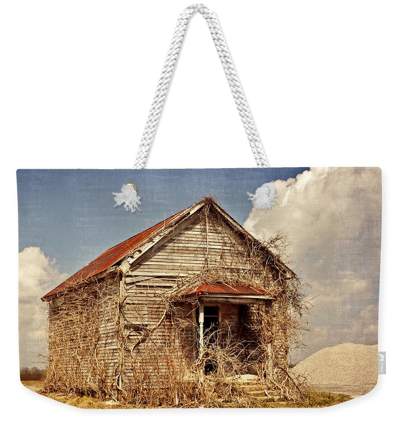 Rustic Weekender Tote Bag featuring the photograph Country Schoolhouse by Marty Koch