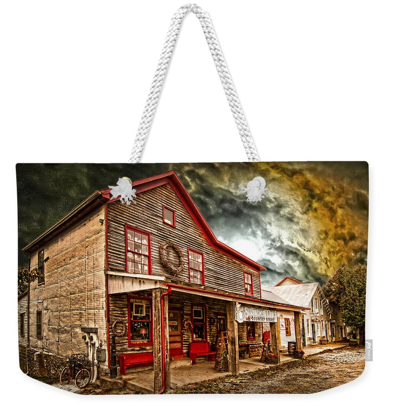 Old Country Store Weekender Tote Bag featuring the photograph Country Store Washington Town Ky by Randall Branham