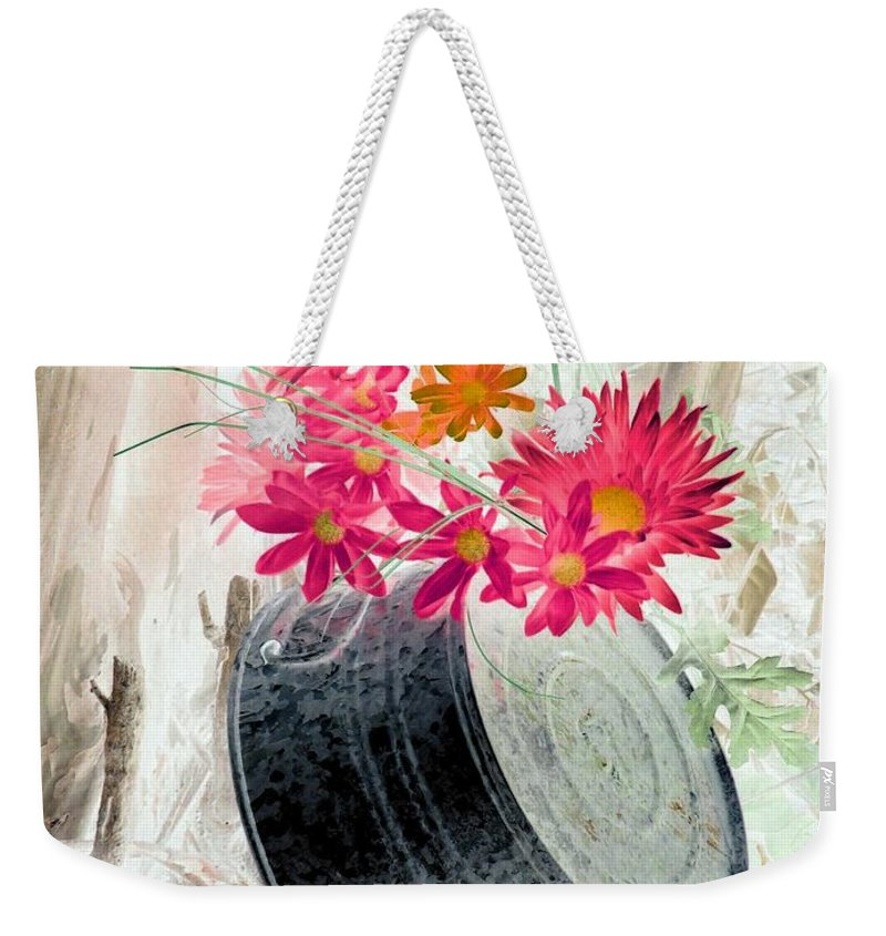 Flower Weekender Tote Bag featuring the photograph Country Summer - Photopower 1500 by Pamela Critchlow