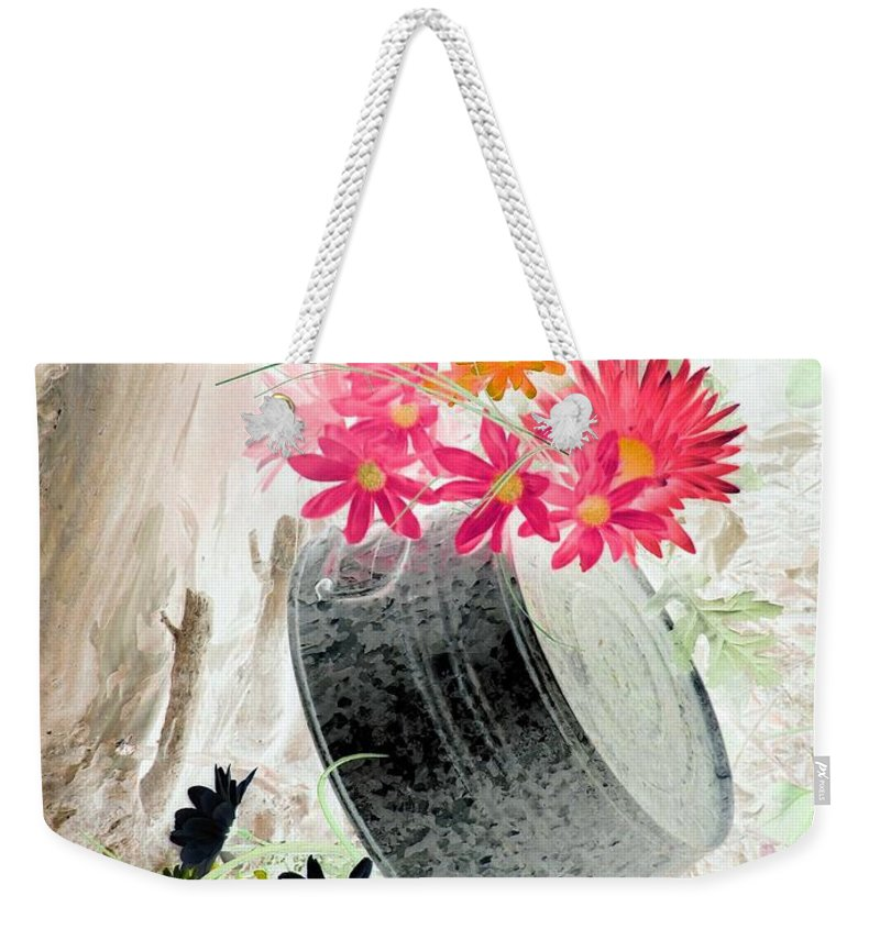 Flower Weekender Tote Bag featuring the photograph Country Summer - Photopower 1502 by Pamela Critchlow