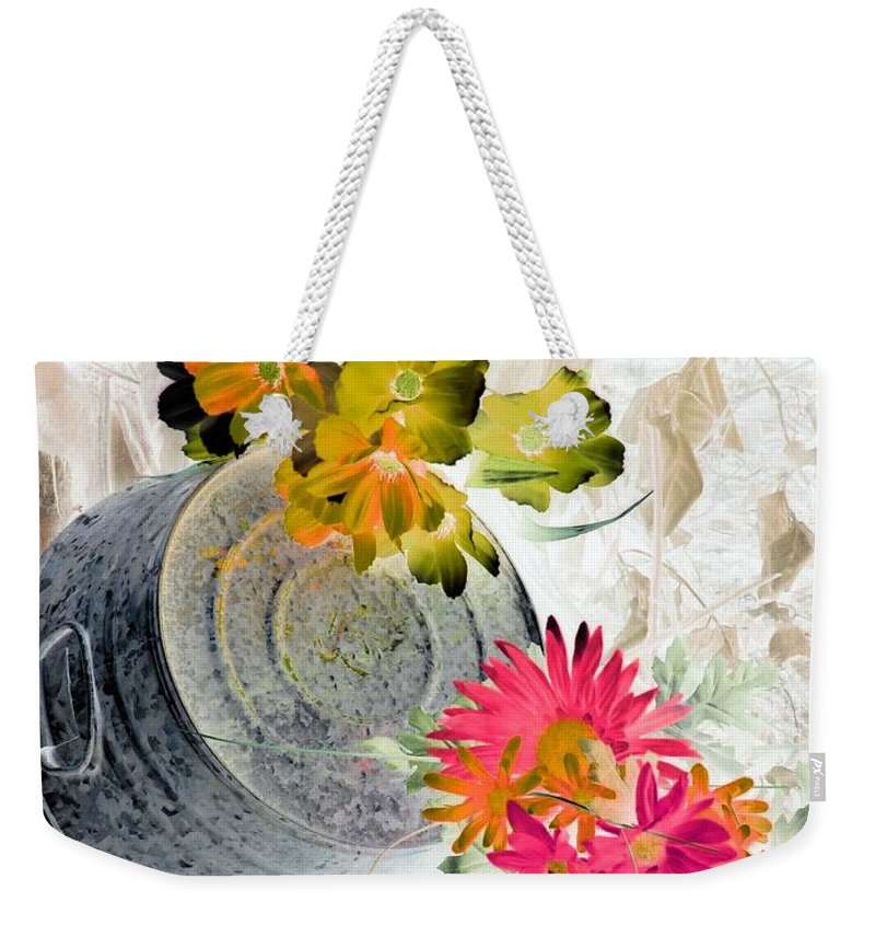 Flower Weekender Tote Bag featuring the photograph Country Summer - Photopower 1509 by Pamela Critchlow