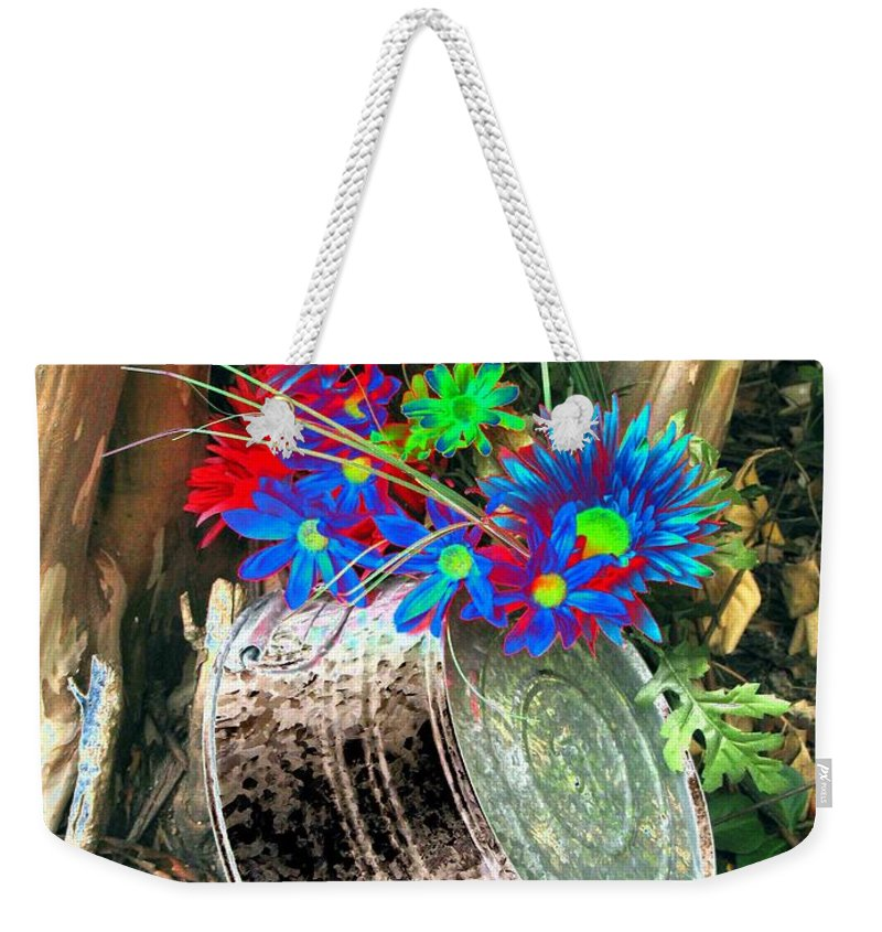 Flower Weekender Tote Bag featuring the photograph Country Summer - Photopower 1514 by Pamela Critchlow
