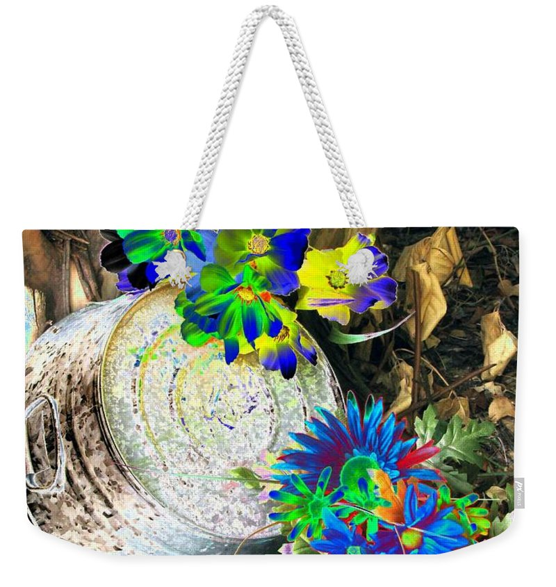 Flower Weekender Tote Bag featuring the photograph Country Summer - Photopower 1519 by Pamela Critchlow