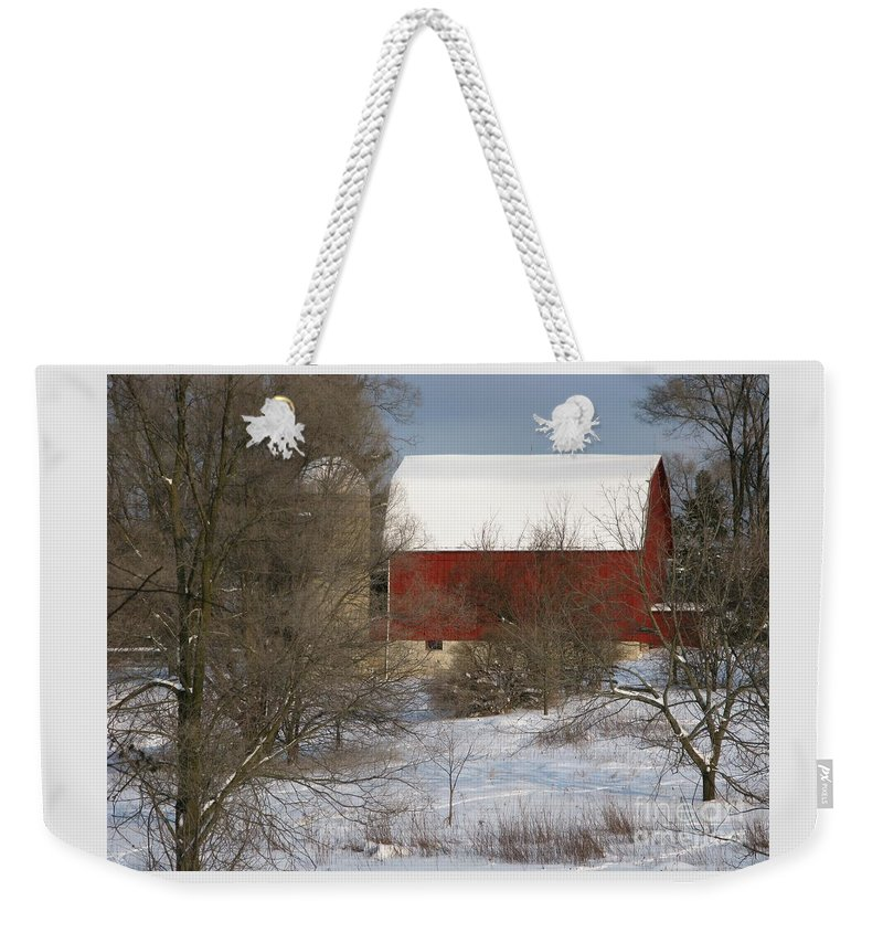 Winter Weekender Tote Bag featuring the photograph Country Winter by Ann Horn
